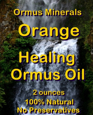 Ormus Minerals -Orange Healing Ormus Oil