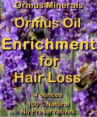 Ormus Minerals -Ormus Oil Enrichment for Hair Loss