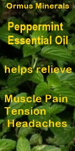 Ormus Minerals --Magnesium Oil roll On for Muscle Pain with Organic Peppermint Essential Oil